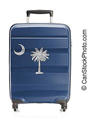 Suitcase with US state flag series - South Carolina