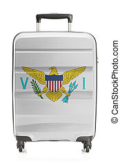 Suitcase with US state flag series - Virgin Islands of the United States