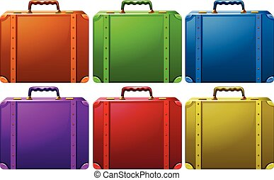 Suitcases - Different colors of classic design suitcases