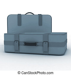 Suitcases isolated