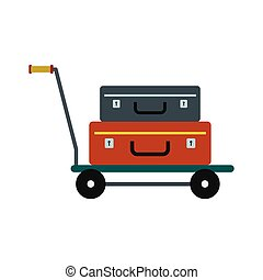 Suitcases on a cart icon