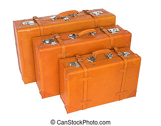 suitcases - leather suitcases