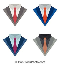 Suits with ties