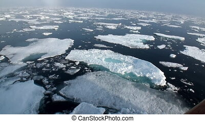 suivant, arctic., floated, banquise, glace, icebreaker