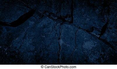 suivre, rocher, fissure, nuit