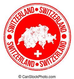 suiza, estampilla