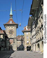suiza, famoso, berna, zytgloggeturm, (1218)