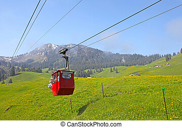 suiza, ferrocarril, cable