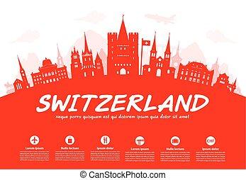 suiza, landmarks., viaje