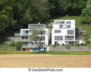 suizo, casa, moderno