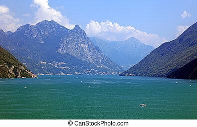 suizo, lago, europe., alpes, pintoresco