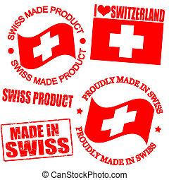 suizo, producto, sellos