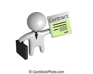 sujeito, contrato, 3d