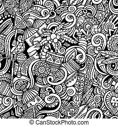 sujet, style, thème, dessin animé, afrique, hand-drawn, doodles