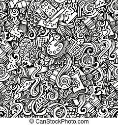 sujet, style, thème, dessin animé, hand-drawn, art, doodles