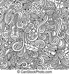 sujet, style, thème, dessin animé, hippie, hand-drawn, doodles