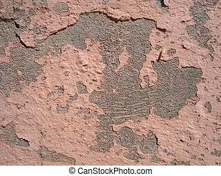 sujo, cemented, parede, textura