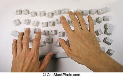 sujo, teclado