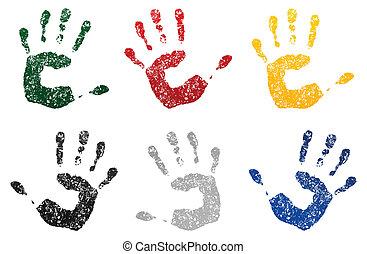 sujou, ilustração, mão, vetorial, paint., impressão