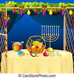 Sukkah for celebrating Sukkot