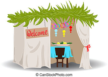Sukkah For Sukkot - A Vector illustration of a Sukkah...