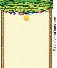 Sukkah Note - Decorative blank sign in a shape of sukkah. ...