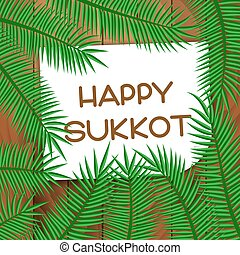 Sukkot festival greeting card.