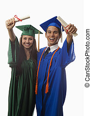 suknia, korona, kolegium, absolwenci