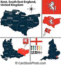 sul, leste, inglaterra, reino unido, kent