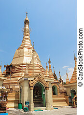 Sule pagoda in Yangon, Burma (Myanmar)