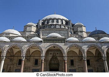 Suleymaniye Mosque in Istanbul, Turkey - Suleymaniye Mosque...