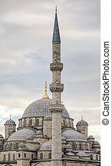 Suleymaniye mosque minaret in Istanbul - Minaret in Istanbul...