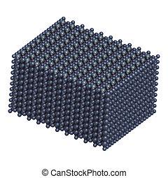 sulfate), cobre, (ii), structure., sulfate, (cuso4, cristal, cupric