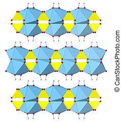 sulfate, mineral, caso4.h2o), produção química, fertilizante, drywall, gesso, etc., usado, gesso, (calcium, structure., dihydrate
