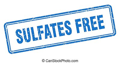 sulfates free stamp. square grunge sign on white background