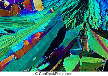 Sulfur Crystals - Sulfur crystals photomicrograph 40x