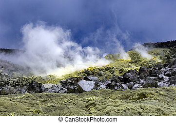 Sulfur from a Galapagos Volcano - The galapagos south...