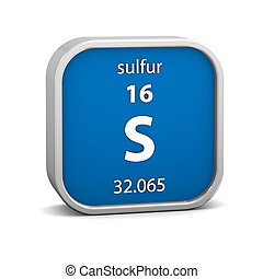 Sulfur material sign - Sulfur material on the periodic table...