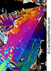 Sulfur micrograph - Sulfur crystals,Photomicrograph...