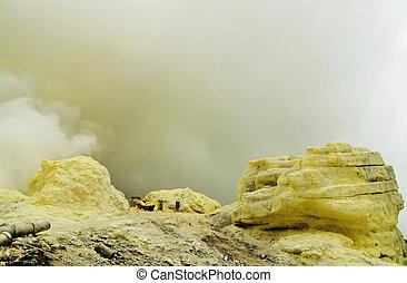 Sulfur Mine - Big sulfur mine