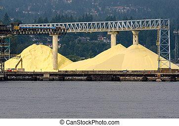 sulfur mine in Vancouver Canada