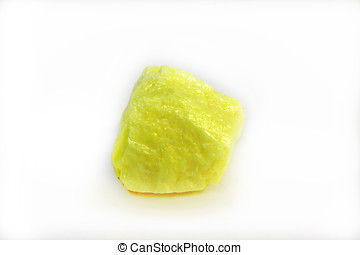 Sulfur Rock - Sulfur is one of the few elements found pure ...