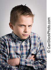 sullen boy expression
