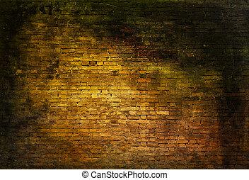 Sullen brick wall