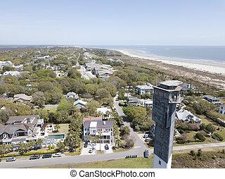 Sullivan's Island Lighthouse In Charleston, South Carolina