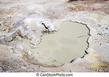 Sulphur Cauldron at Mud Volcano Area of Yellowstone National Park