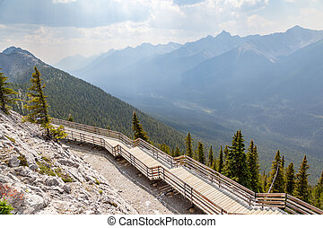 Sulphur Mountain in Banff National Park, Alberta, Canada
