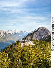Sulphur Mountain in Banff National Park, Canada
