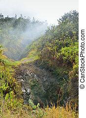 sulphur vents in Volcanoes National Park, Big Island of Hawaii
