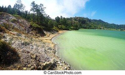 Sulphurous lake - Danau Linow Indonesia - Famous tourist...
